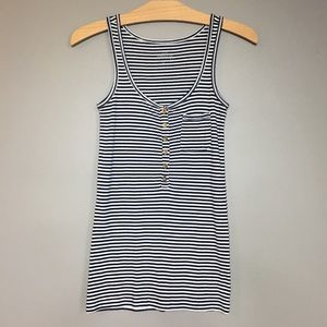 J. Crew The Perfect Fit Tank Blue White Striped S